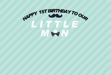 Laeacco Words Little Man Baby Boy Happy 1st Birthday Photography Backgrounds Customized Photographic Backdrops For Photo Studio