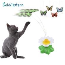 1 шт. Забавный котенок питомец игрушка электрический вращающийся бабочка птица Стальная проволока Котик-тизер для домашних животных игрушки для детей