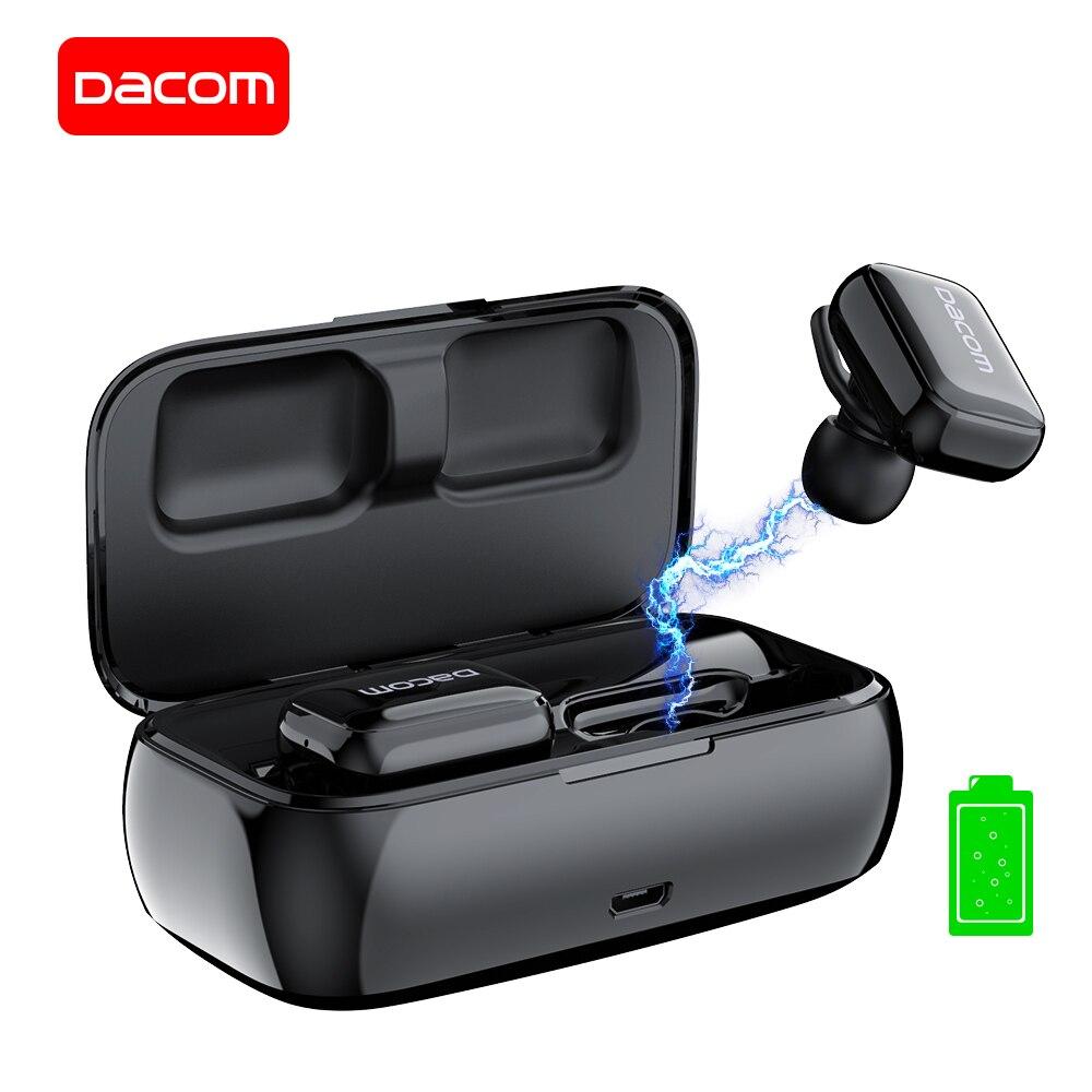 DACOM GF8 TWS Mini Sans Fil écouteurs avec microphone Dans L'oreille Écouteurs avec Boîte De Charge Mains Libres Écouteur pour IOS Andriod Téléphones