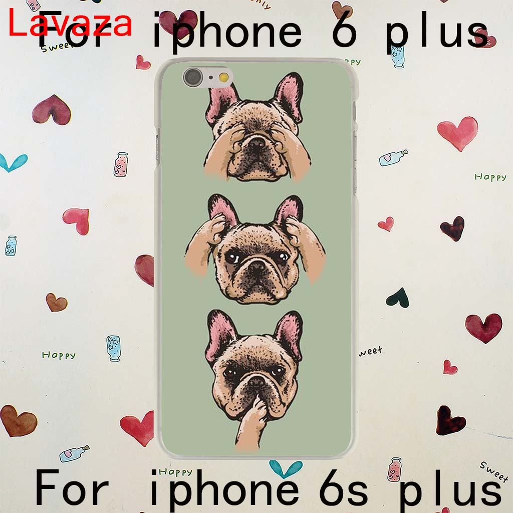 Lavaza Tattooed Bullterrier Cute dog Biaoqing for iPhone 6 plus Hard Transparent Case Cover for iPhone 6s plus