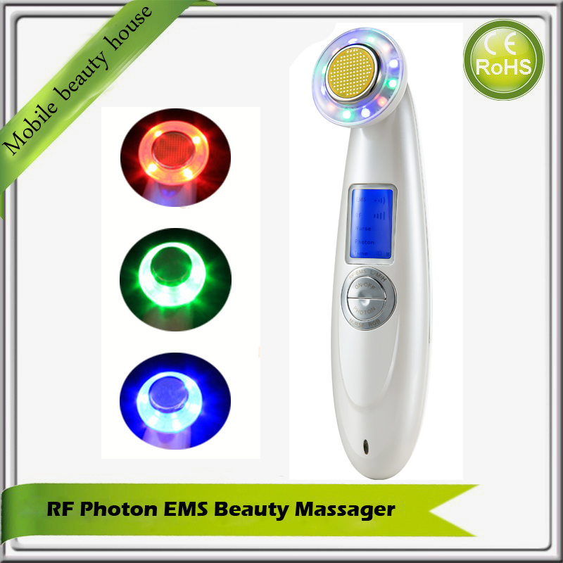 Mini Rechargeable Handheld RF Radio Frequency Skin Care Facial Rejuvenation Tightening Lifting Wrinkle Removal Beauty Machine portable handheld home use rf ems radio frequency bio microcurrent facial warming body skin lifting tightening beauty device