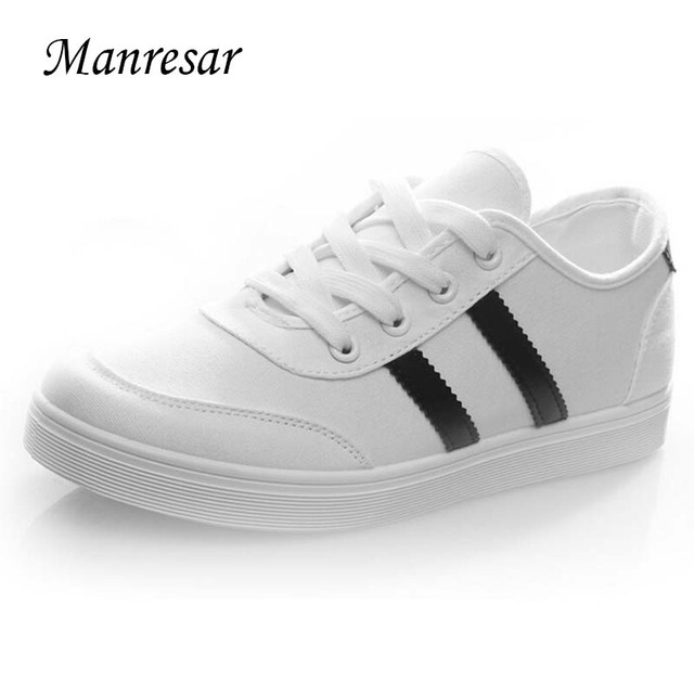 Manresar 2016 New Fashion Lace-up Women Zapatos Mujer Women Classic Canvas Casual Shoes Black and White Female Shoes Size 35-40