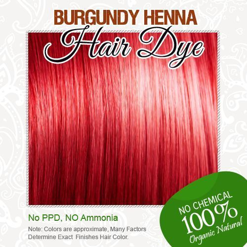 Burgundy Henna Pewarna Rambut 100 Organik Dan Bebas Kimia Henna