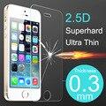 Qualidade superior Caso Ultra Fino Protetor de Tela De Vidro Temperado Para iPhone 5 5S SE 5C 6 S 6 Mais Tampa Do Telefone Casos de Proteção filme