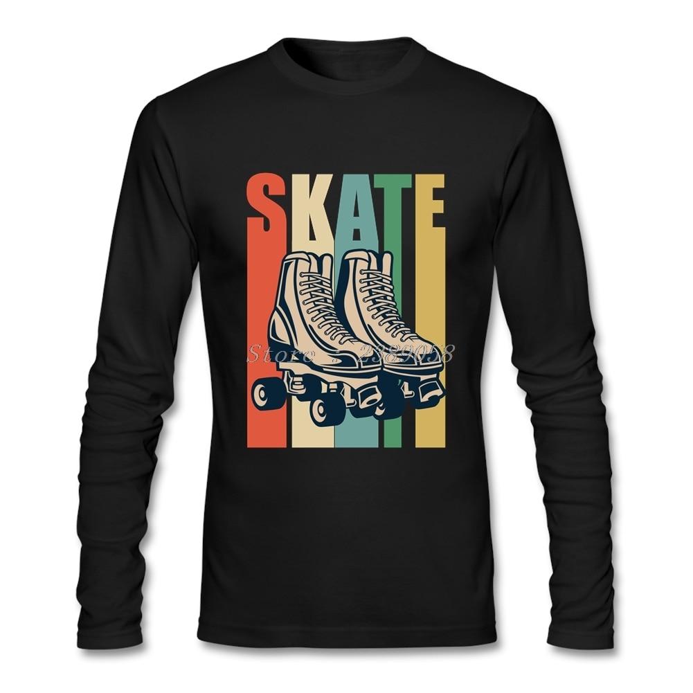 Vintage T-Shirt Men Roller Derby Cool Skating Hip Hop Short Sleeve Gift T Shirt Homme Camisetas
