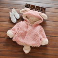 Autumn and winter female baby lamb cashmere coat girl with velvet cotton