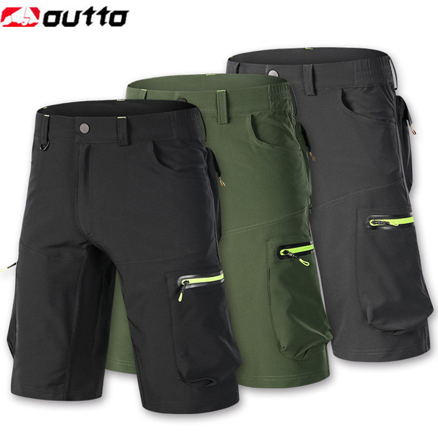 Summer MTB Cycling Shorts Baggy Downhill Mountain Bike Padded Short Pants Mens