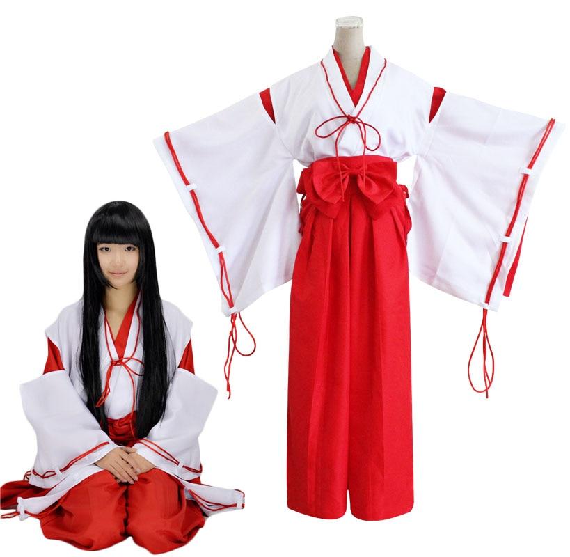 Halloween Japanese Anime Inuyasha Higurashi Kagome Cosplay Costume NEW HOT!!