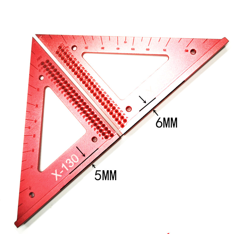 Ruler Triangle Line Tool Precision Hole Ruler Wood Woodworking Scribe Scribing Triangle Working Gauge Out Measuring Crossed