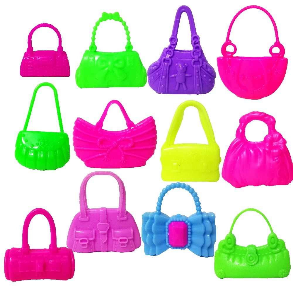 8 Pcs mix styles doll bags accessories toy colorized fashion morden baTE