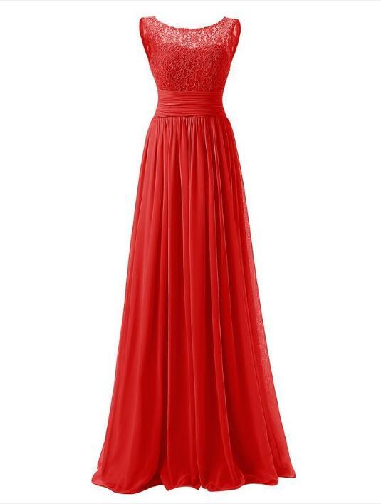 08c243e40 Más tamaño de la gasa larga dama de honor o-cuello vestido 2018 nueva moda