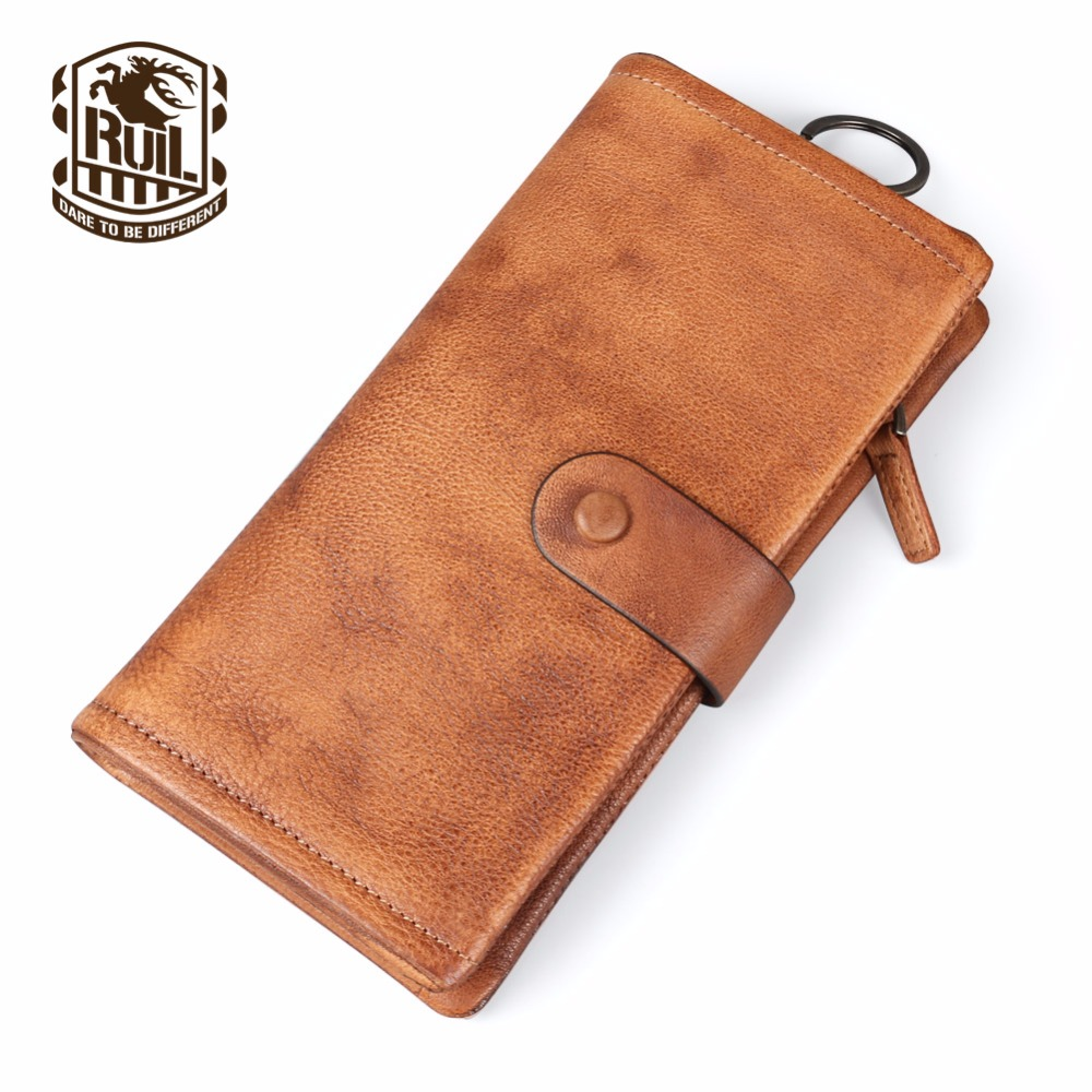 Ruil Top quality Fashion Crazy Horse Genuine Leather Men Purse Wallet coin pocket Draw card purse card Holder Free shipping  new sale fashion genuine leather business trends men purse top quality wallet coin pocket purse card free shipping