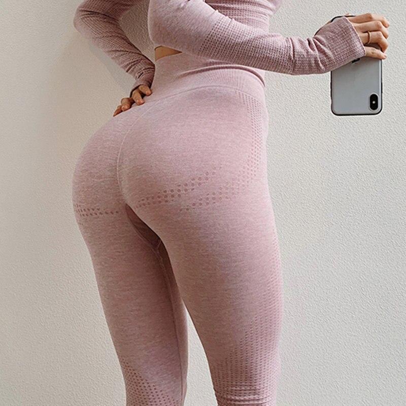 875f7be9ad420a Vital Nahtlose Sport Leggings Rosa Hohe Taille Yoga Hosen Stretchy Leggings  Sport Frauen Bauch-steuer Fitness Gym Leggings