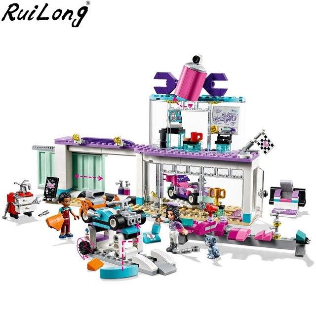 NEW Friends Creative Tuning Shop Set Compatible Legoingly Friends 41351 Building Blocks Bricks Kids Christmas Gifts