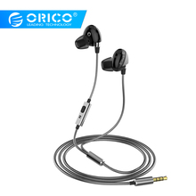 ORICO In-Ear Sport Earphones Music Stereo Gaming Earphone for Phone Xiaomi with Microphone for iPhone 5s iPhone 6 Samsung MP3 ae 01 cool zippered in ear earphone w microphone for iphone htc samsung more purple black