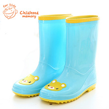 2016 China New Brand children Cartoon rain boots baby girls & boys overshoes rainboots baby fashion slip-resistant water shoes