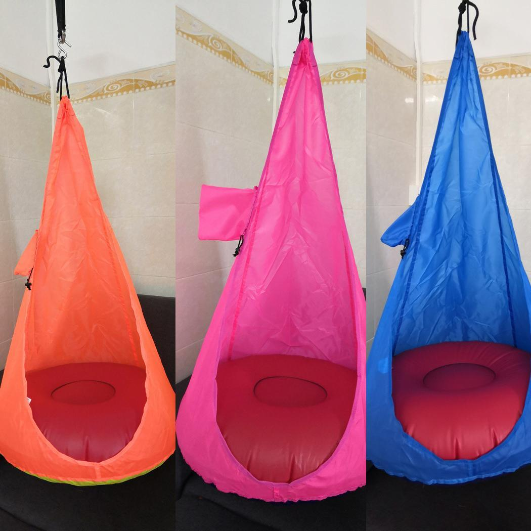 Home Child Hammock Chair Kids Swing Pod Chair(Without Cushion) Portable Outdoor Indoor Hanging Swing Seat Garden Furniture