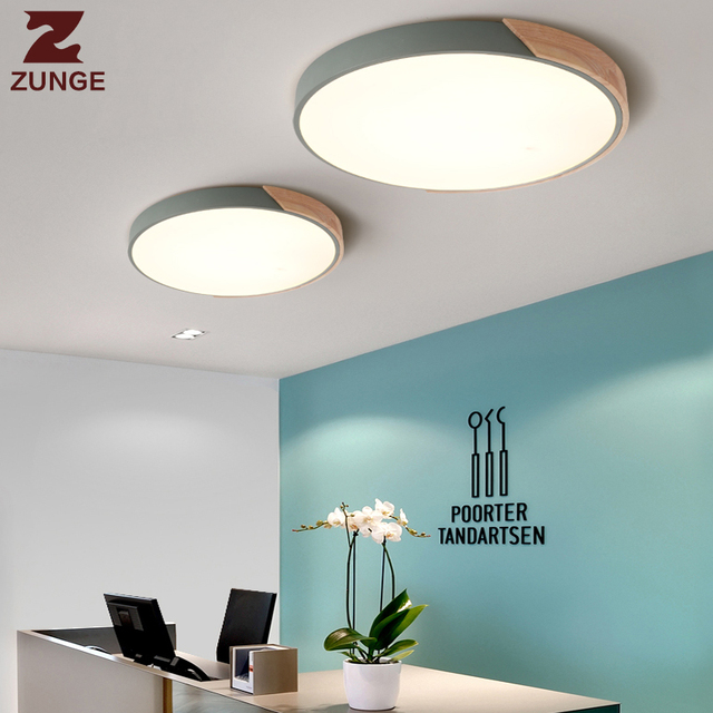 ZUNGE ultra-thin lampada LED lamp ceiling lights bedroom shades of night light modern bulb P661 larder lamps.