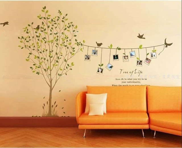 Free shipping Family Tree Bird Photo Frame Wall Quotes, Wall ...