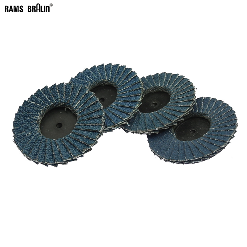 10 Pieces Roloc Flap Wheel Zirconia Grinding Disc For Metal Deburring Finishing