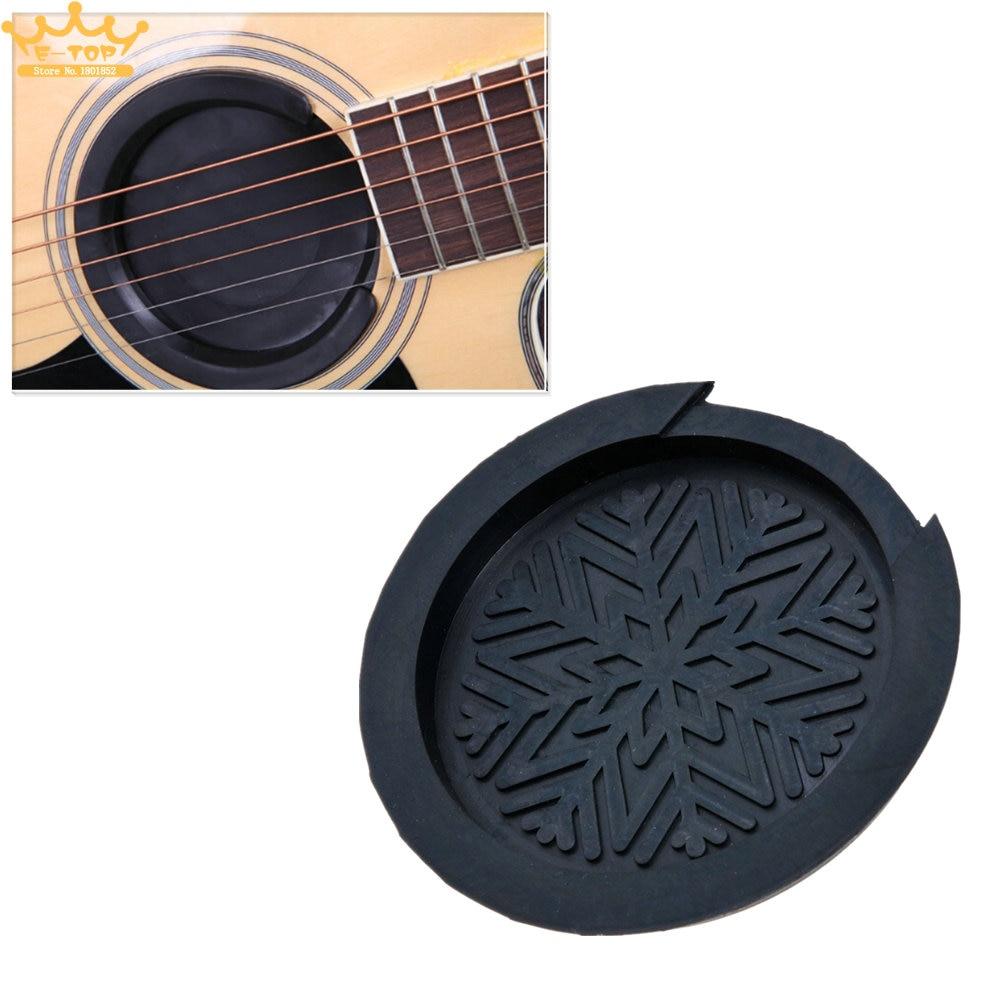 Guitar Sound Hole Cover Block Rubber For 38394142 EQ Acoustic Guitar Accessories amumu traditional weaving patterns cotton guitar strap for classical acoustic folk guitar guitar belt s113