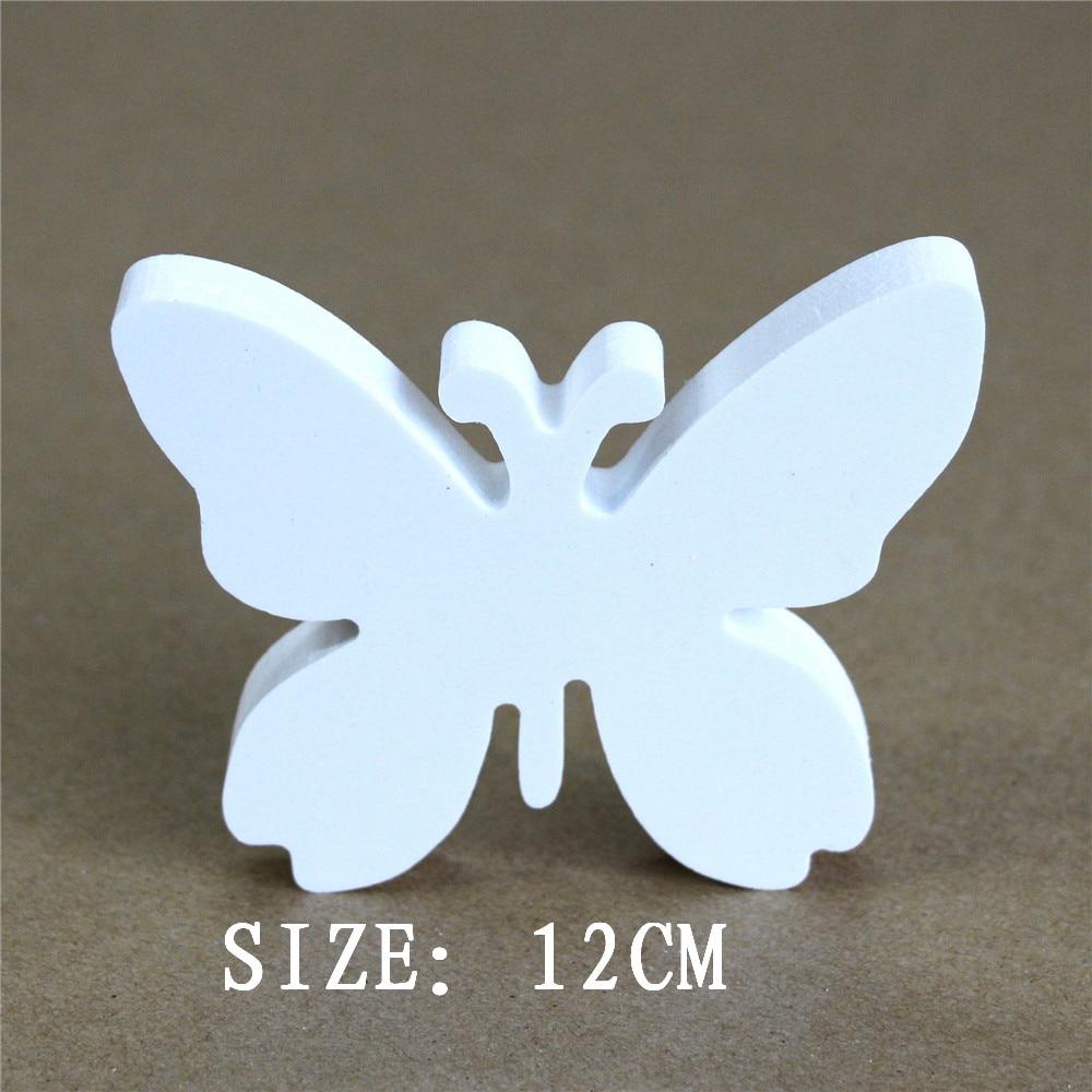 12 cm Künstliche holz Holzbuchstaben Schmetterling Krone Herz Ring Digitale Nummer für Zuhause Hochzeit Dekorationen Geschenke & Name des Kindes
