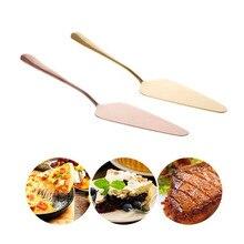 Золотой/розовое золото из нержавеющей стали лопатка для торта пицца пирога сыра сервер разделительный нож лопатка выпечка кондитерское масло западные инструменты повара