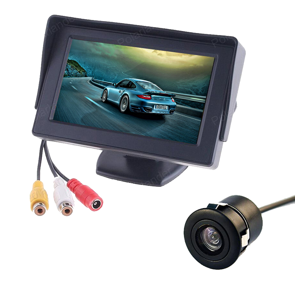 2 in1 <font><b>4.3</b></font> <font><b>Inch</b></font> Auto car <font><b>Monitor</b></font> TFT LCD screen + CCD Rear View reversing Rearview Parking back up Camera image