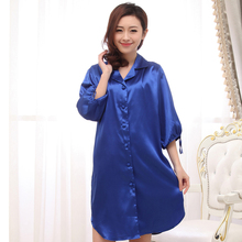 Hot Sale Female Faux Silk Robe Solid Color Bathrobe Women Sleepwear Mini Nightgown Solid Color Short Nightwear One Size S03