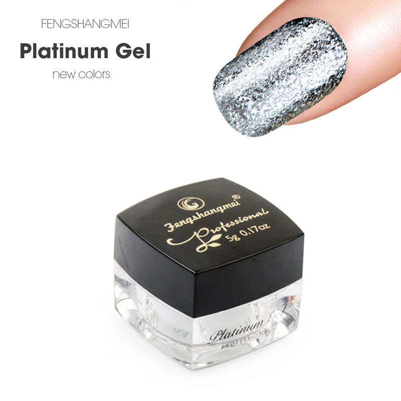 Fengshangmei 5g Metallic Gel Nail Polish Berkilau Panjang Gel UV Gel Lak Lacquer Cat Platinum Hybrid Varnishes