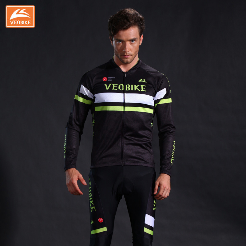 VEOBIKE Men's Pro Cycling Jersey Breathable Long Sleeve Jersey Ropa Ciclismo Bicycle Sportswear Bike Quick Dry Cycling Clothing veobike 2017 pro men cycling jersey set breathable mtb clothes quick dry bicycle summer sportswear bike jerseys ropa ciclismo