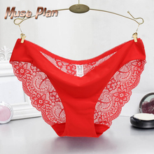 S-2XL!Hot sale! l women's sexy lace panties seamless cotton breathable panty Hollow briefs Plus Size girl underwear