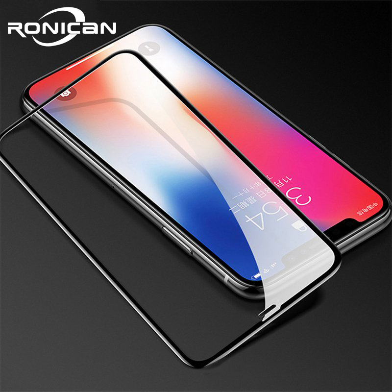 Full Cover Glass On IPhone XS MAX Screen Protector Tempered Glass For IPhone XR X 3D Curved Edge Protective Glass Screen Film