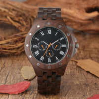 Wooden Man Wrist Watch Case Casual Calendar Display Men&#39s Watches Wood Band Timepieces Male Clock Gifts 2019 New