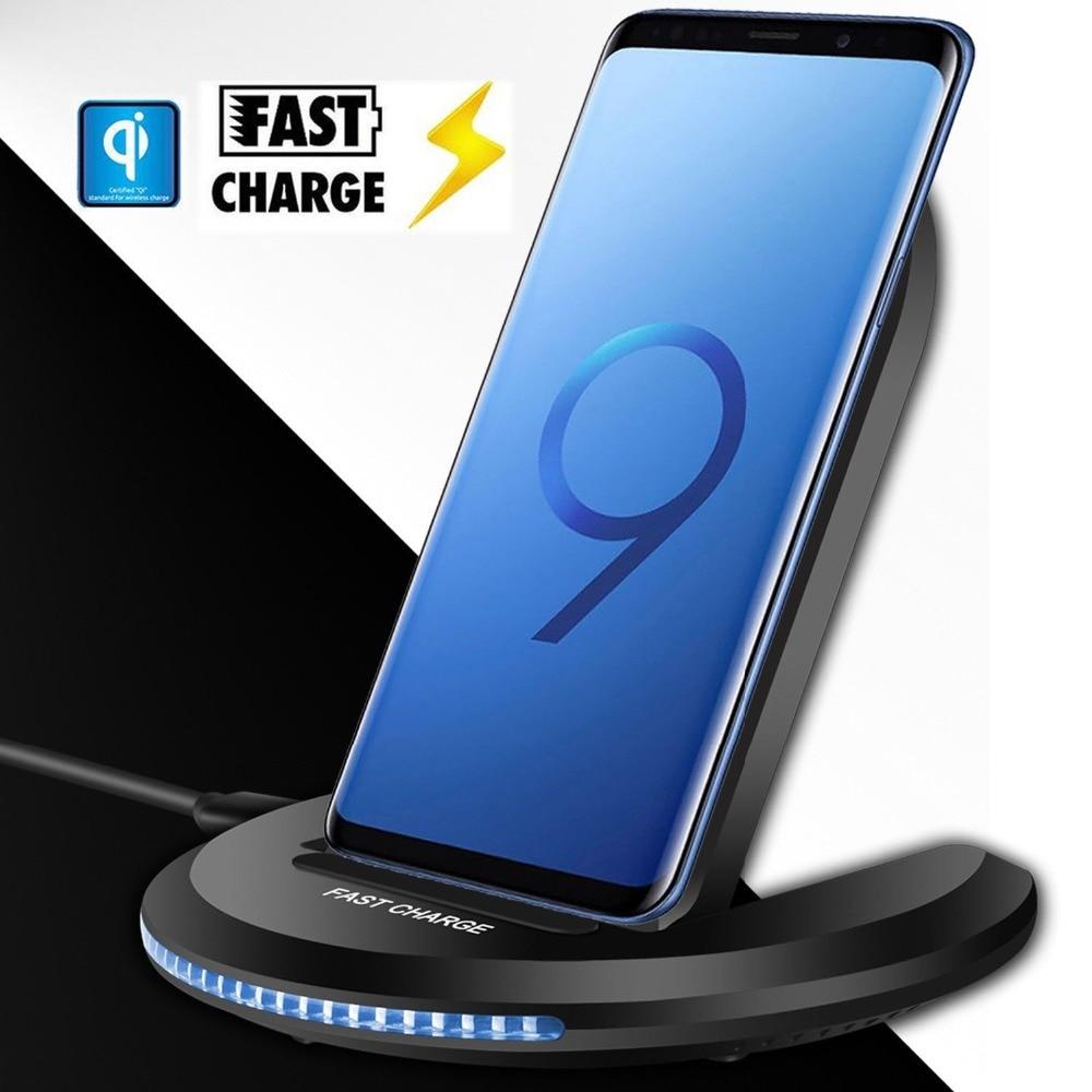 Chargeur sans fil universel 10 W Qi pour iPhone X 10 8plus Samsung Galaxy S9 S8 Note 8 Xiomi téléphone support de charge sans fil rapide