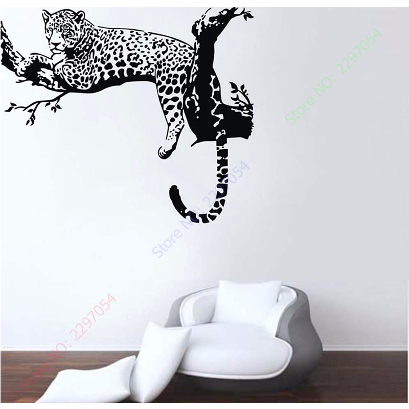 New Large Leopard Tiger Tree Removable Vinyl Wall Sticker Home
