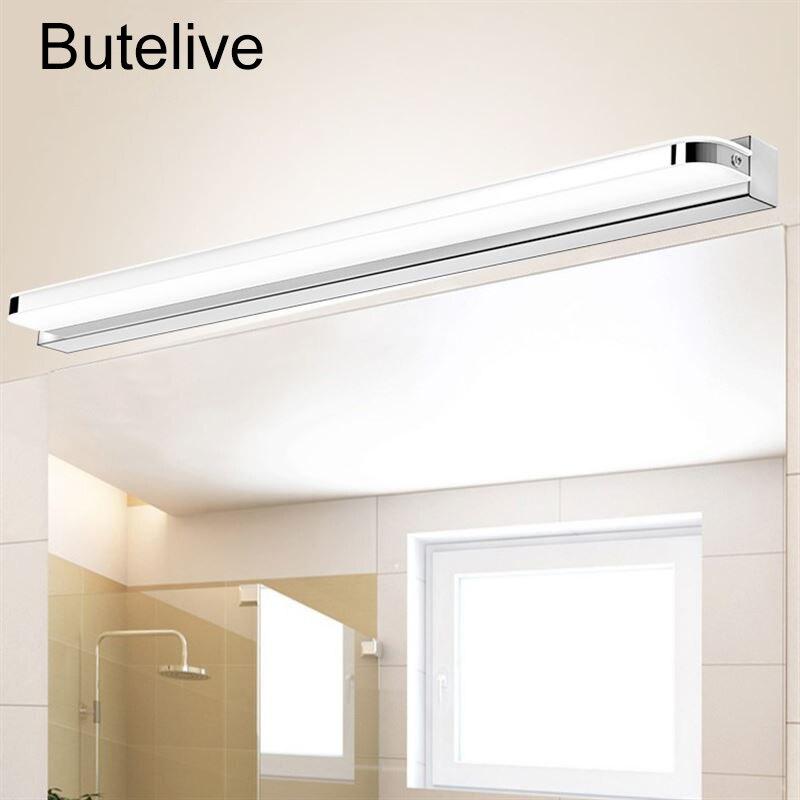 LED Wall Lamp Bathroom Acrylic Mirror Light Washroom Wall ...