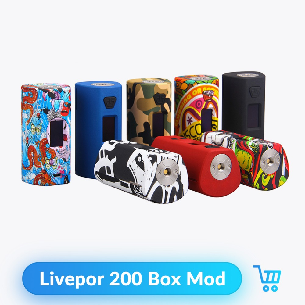 Yosta livepor 200 W TC boîte Mod 6 Modes différents Vape Mod par double 18650 batterie Fit 510 fil E Cigarette atomiseur Vape Mod