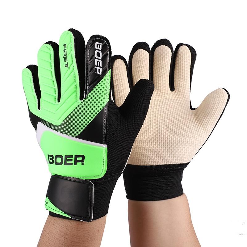 Hot! Boys Girls Ski Gloves Rubber Anti Slip Wrist Wrap Soccer Football Apparel Accessories Gloves For Goalkeeper Th