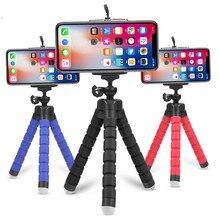 Гибкий губчатый мини-штатив Осьминог с Bluetooth дистанционным затвором для iPhone мини-штатив для камеры держатель для телефона Подставка с зажимом