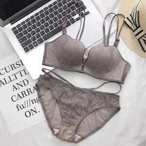 Image 4 - Roseheart Women Fashion Sexy Lingerie Set Lace Bra Cotton Panties Push Up Wireless Bra Sets Underwear A B Luxury Seducive