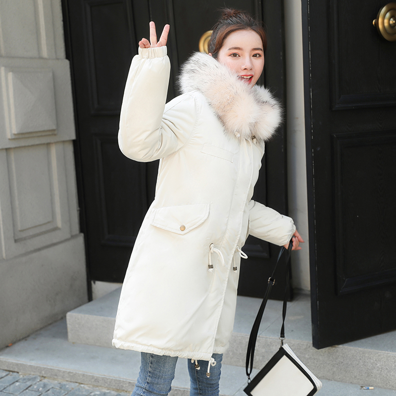 Winter Coat Women 2018 New Women Winter Jacket Thick Warm Coat Black white Brand Parkas Hooded Female Padded Outwear