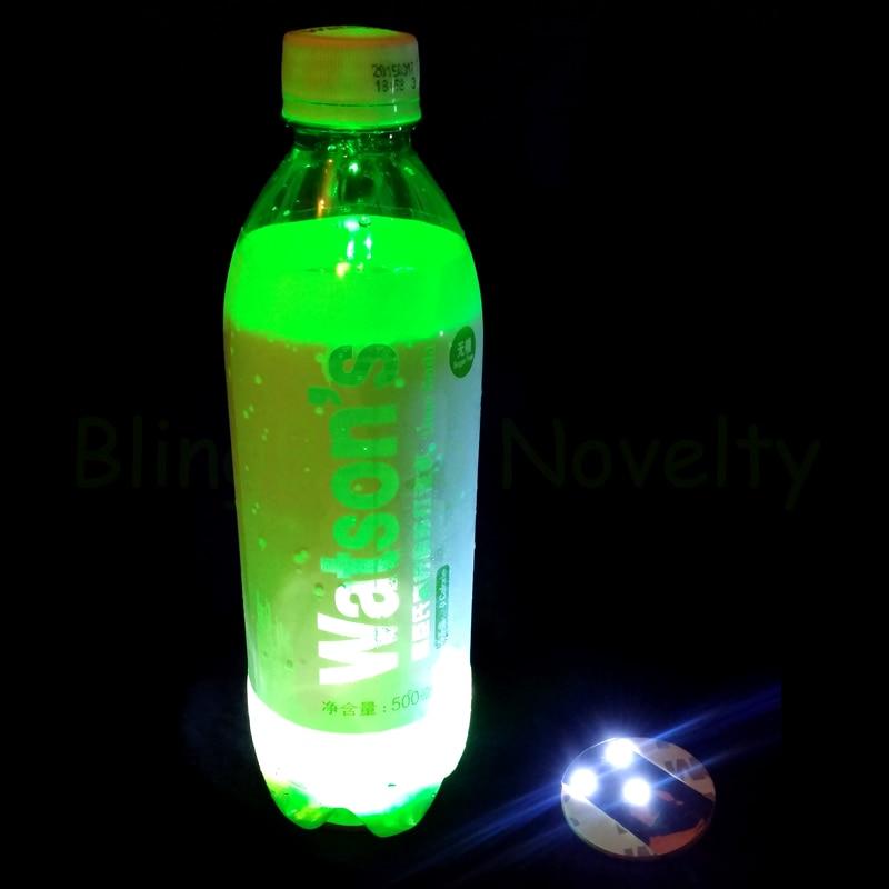 Super Thin Light Up LED kleebis Coaster Bottle Cup Light Kleebised Mat klubide hotelli restorani kohviku pulmapäev