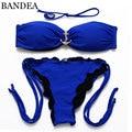 BANDEA 2016 Inserções Preenchimento Bikini Vintage Bandage Swimsuit Swimwear Mulheres Sexy Bikini Set Vintage Maillot De Bain
