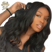 Full Lace Human Hair Wigs With Baby Hair Pre Plucked Glueless Brazilain Body Wave Remy