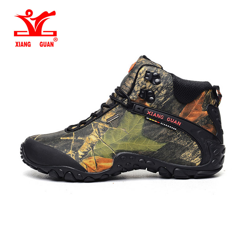 XIANG GUAN Man Outdoor Shoes Camouflage Water Resistant Breathable Hiking Shoes For Women Climbing Trekking Sneakers SIZE 36-48 free ship turbo cartridge chra for subaru forester impreza 1997 58t ej20 ej205 2 0l td04l 49377 04200 14412 aa140 turbocharger