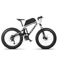 Spor ve Eğlence'ten Elektrikli Bisiklet'de Özel 26 inç elektrikli bisiklet Yumuşak kuyruk tam süspansiyon ile off road elektrikli dağ 48 V 1000 w güçlü motor yağ e bike MTB