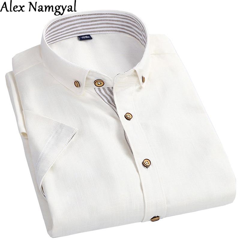 Online Get Cheap Mens White Linen Shirt Short Sleeve -Aliexpress ...