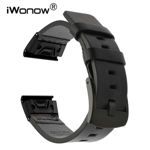 Image 1 - מהיר קל Fit עור אמיתי רצועת השעון עבור Garmin Fenix 5X/5X בתוספת/5S/5/3/ 3HR/Forerunner 935/גישה S60 להקת שעון רצועה
