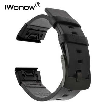 Quick Easy Fit Genuine Leather Watchband for Garmin Fenix 5X/5X Plus/5S/5/3/3HR/Forerunner 935/Approach S60 Watch Band Strap - DISCOUNT ITEM  18% OFF All Category